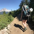 Walking the Elfin Lakes Trail with Mount Atwell ahead.- Garibaldi Provincial Park