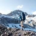 Ascending a moraine beneath Mount Atwell. - Garibaldi Provincial Park