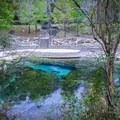 Walkways circle the springs and lead to the river's edge, offering an assortment of views of the colorful spring. Scuba divers often visit the spring for its access to a network of limestone caves below.- Little River Springs Park