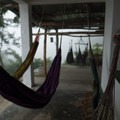 The hostel has many comfy hammocks.- Mundo Nuevo to Pozo Azul to Minca Loop