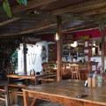 The main dining area of the Mundo Nuevo Hostel.- Mundo Nuevo to Pozo Azul to Minca Loop