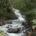 Pozo Azul with the river and waterfall.- Mundo Nuevo to Pozo Azul to Minca Loop