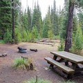 Typical site at Scott Lake Campground. - Scott Lake Campground