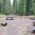 Large walk-in site at Scott Lake Campground. - Scott Lake Campground