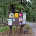 Information sign for Scott Lake Campground. - Scott Lake Campground