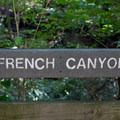 A sign clearly marks the French Canyon overlook. - French Canyon