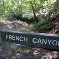 The trail crosses the canyon.- French Canyon