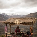 The local people sell their own woven clothing and some crafts and souvenirs with designs of the culture of Peru. - Colca Canyon