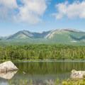 Mount Katahdin across from Sandy Stream Pond.- South Turner Mountain via Sandy Stream Pond