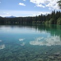 Fifth Lake, the second largest lake on the trail.- Valley of the Five Lakes