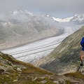 There are stunning views of the Aletsch Glacier.- Eggishorn to Bettmeralp