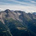 Bättlihorn peak seen from the descent to Bettmeralp.- Eggishorn to Bettmeralp