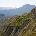 Interesting landscapes on the descent to Bettmeralp.- Eggishorn to Bettmeralp