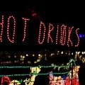 One of the many festive signs leading you toward some hot drinks.- ZooLights at the Oregon Zoo