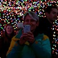Though it might get crowded, this long light tunnel has plenty of spaces to move over and get a selfie. - ZooLights at the Oregon Zoo