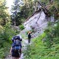 Hiking up Singing Pass.- Garibaldi Provincial Park