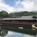 Song Cha Xie Teahouse with the Chinese Timber Architectural Gallery behind it.- Nan Lian Garden