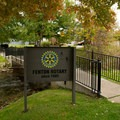 Bush Park and the Fenton Rotary offers flushing toilets and water fountains.- Shiawassee River Trail: Fenton to Linden