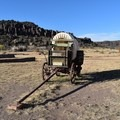 A covered wagon replica at Fort Davis National Historic Site.- Fort Davis National Historic Site