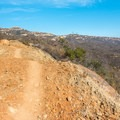 The trail begins on the unmarked Carveacre Road.- Lawson Peak