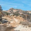 The granite-topped Lawson Peak in the distance.- Lawson Peak