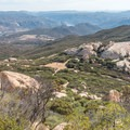The last section of the trail is hardly visible through the overgrown chaparral.- Lawson Peak
