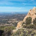 View to the northwest near the summit of Lawson Peak.- Lawson Peak