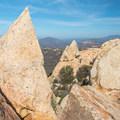 Unique rock formations mark the summit of Lawson Peak.- Lawson Peak