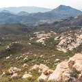 View from a ledge which is accessible through the cave.- Lawson Peak