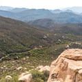 View of Wisecarver Trail from Lawson Peak.- Lawson Peak