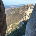 View from the cave on the northwestern face of Lawson Peak.- Lawson Peak