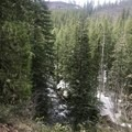 Marion Creek flows from Marion Lake, which continues on to create the waterfalls.- Marion Mountain via Marion Lake