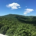 The trail travels along slickrock with great views.- Shawangunk Ridge Trail: Peterskill Section
