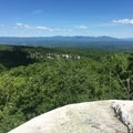 View of the Catskills from the trail.- Shawangunk Ridge Trail: Peterskill Section