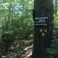 Signage for this section.- Shawangunk Ridge Trail: Peterskill Section