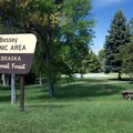 The large picnic area is well maintained.- Bessey Recreation Complex + Campground