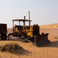 An abandoned bulldozer. - Namib Desert Driving Tour