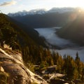 There is a glacier runoff that passes near the hut down into the valley. - Conrad Kain Hut