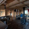 The main downstairs kitchen area. - BCMC Watersprite Hut