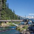 The bridge crossing the outlet.- Garabaldi Lake