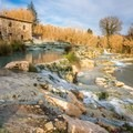 A side view showing the many thermal pools.- Cascate del Mulino in Saturnia