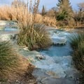 The travertine that forms the pools is very sharp.- Cascate del Mulino in Saturnia