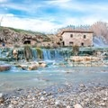 The many cascading waterfalls.- Cascate del Mulino in Saturnia