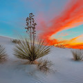 White Sands National Monument is known for great sunsets. - White Sands National Monument Dispersed Campsites