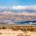The Guadalupe Mountains approaching the park from El Paso.- Pine Springs Campground