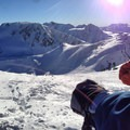 Looking out on the Spearhead Glacier just beyond Blackcomb resort.- Garibaldi Provincial Park