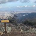 Summit sign.- Bedford Peak