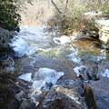 Crossing the Verkeerder Kill.- Shawangunk Ridge Trail: Sam's Point Section