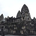 Center temple from the inner courtyard.- Angkor Wat
