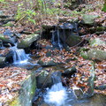 Gold Mine Creek Cascading Falls.- Big Rock Trail